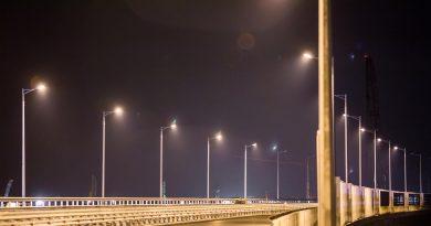 Освежение дороги на крымском мосту