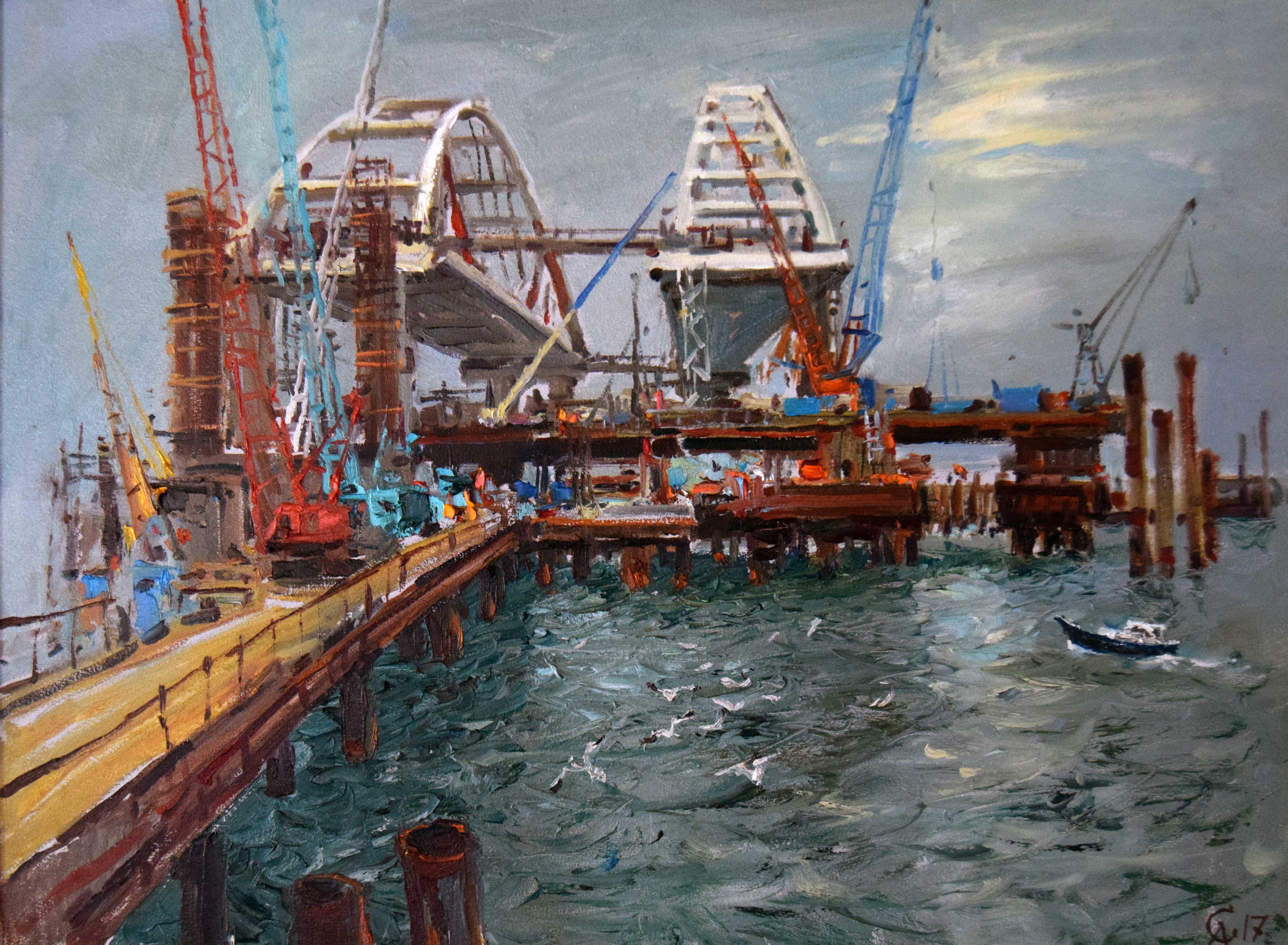Крымский мост картина 17