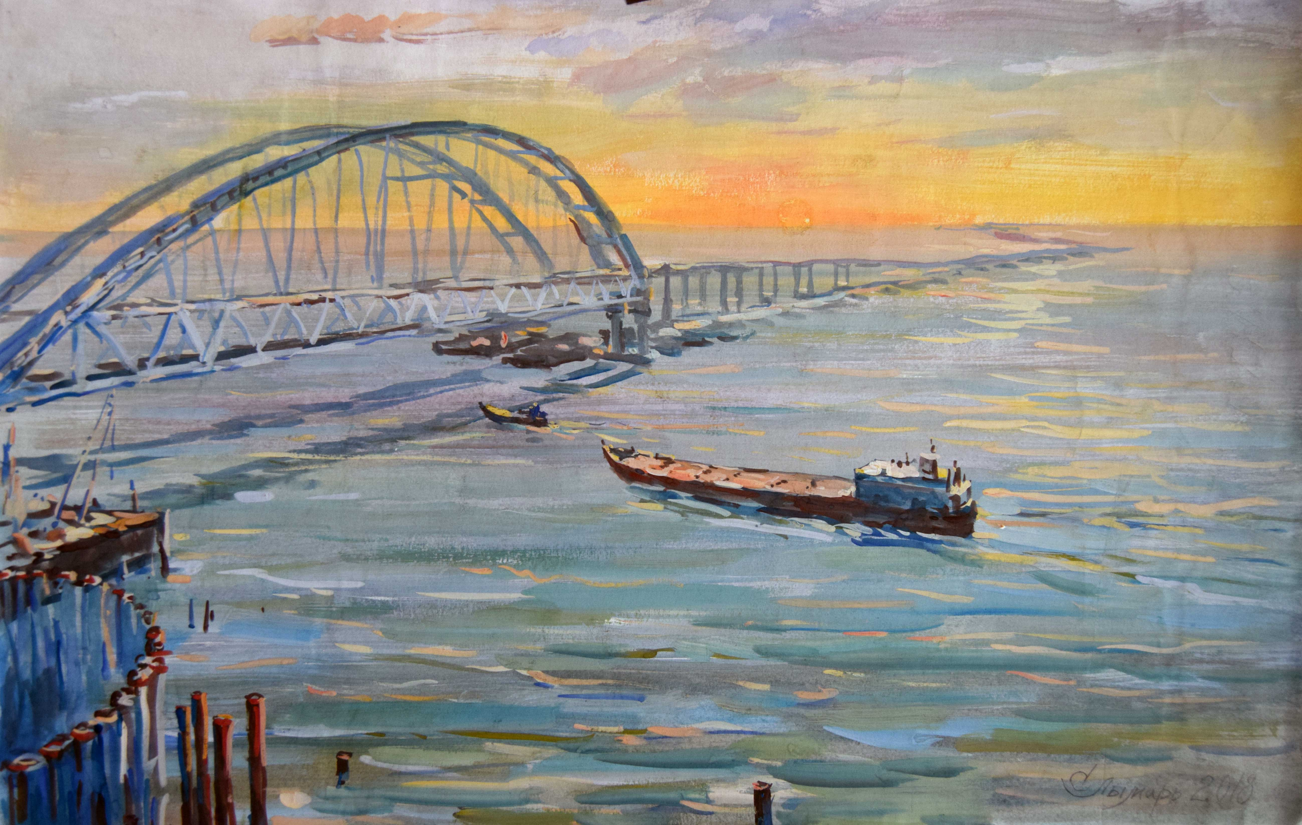Крымский мост картина 20