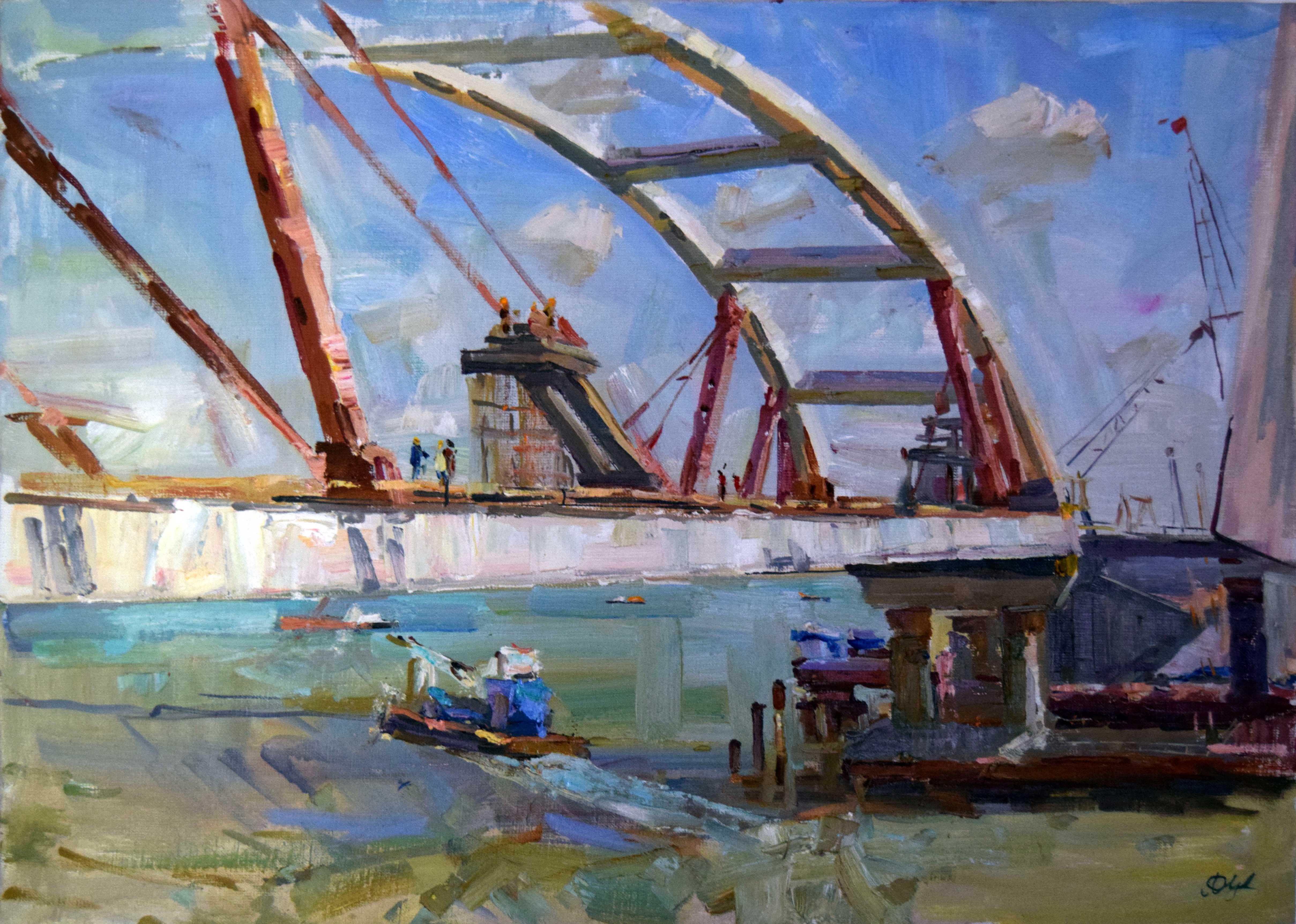 Крымский мост картина 7