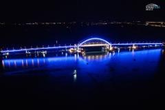 Подсветка арки Крымского моста