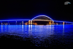 Подсветка арки Крымского моста 2