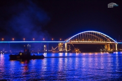 Подсветка арки Крымского моста 3