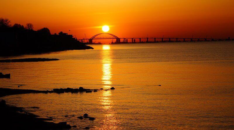 Крымский мост 18 апреля 2018