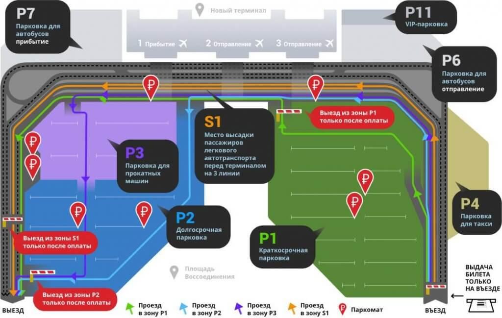 Парковка нового терминала Аэропорта Симферополь