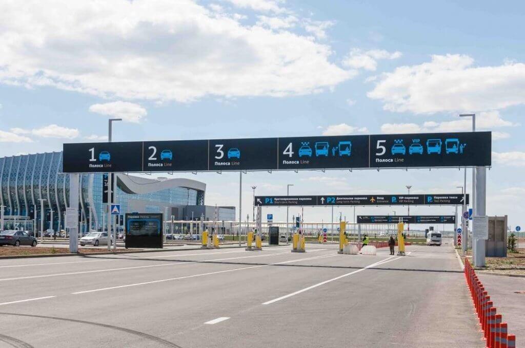 Парковка нового терминала Аэропорта Симферополь 2