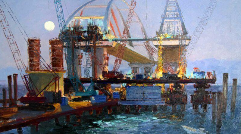 Крымский мост картина